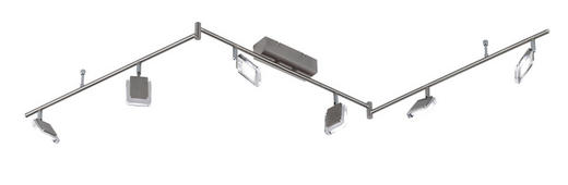 LED-STRAHLER - Nickelfarben, Design, Metall (150/19/20cm)