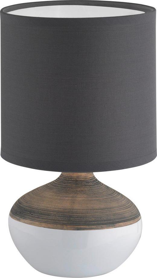 TISCHLEUCHTE - Braun/Weiß, Design, Keramik/Textil (32cm)