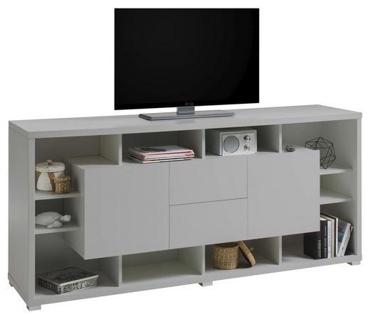 LOWBOARD - Silberfarben/Hellgrau, Design, Holzwerkstoff (190/86/48cm)