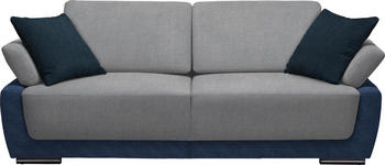 SCHLAFSOFA in Textil Blau, Hellgrau - Blau/Chromfarben, Design, Holz/Textil (214/83/95cm) - Venda