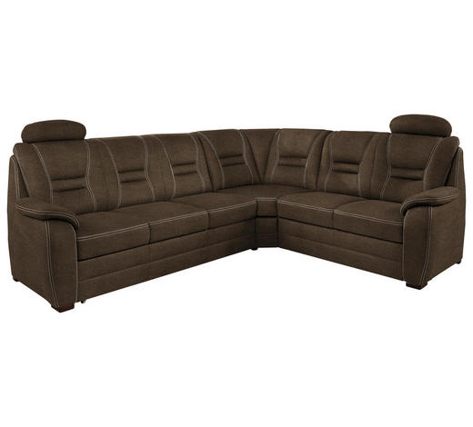 WOHNLANDSCHAFT in Textil Grau - Beige/Grau, KONVENTIONELL, Holz/Textil (286/234cm) - Beldomo Comfort