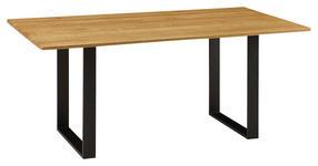 ESSTISCH in Holz, Metall 130/90/76 cm - Eichefarben/Schwarz, KONVENTIONELL, Holz/Metall (130/90/76cm) - Venda