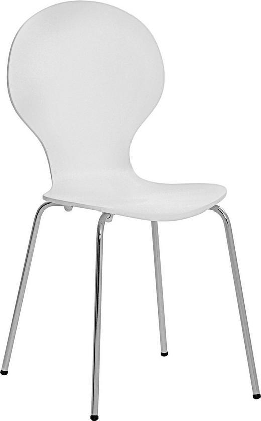 ŽIDLE, dřevo, kov, bílá, - bílá, Design, kov/dřevo (55,6/87,3/46,2cm) - Carryhome