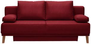 SCHLAFSOFA in Textil Rot  - Rot/Naturfarben, Design, Holz/Textil (192/92/90cm) - Novel
