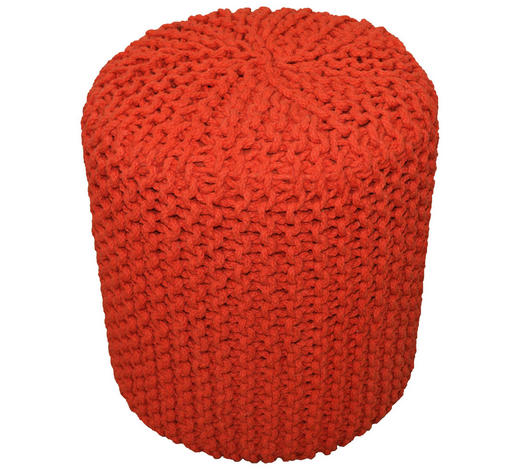 POUF in Textil  - Orange, Trend, Textil (44/44cm) - Carryhome