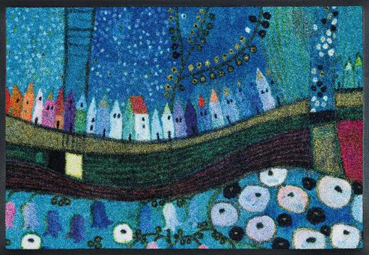 FUßMATTE 75/120 cm Graphik Blau, Multicolor - Blau/Multicolor, Basics, Kunststoff/Textil (75/120cm) - Esposa