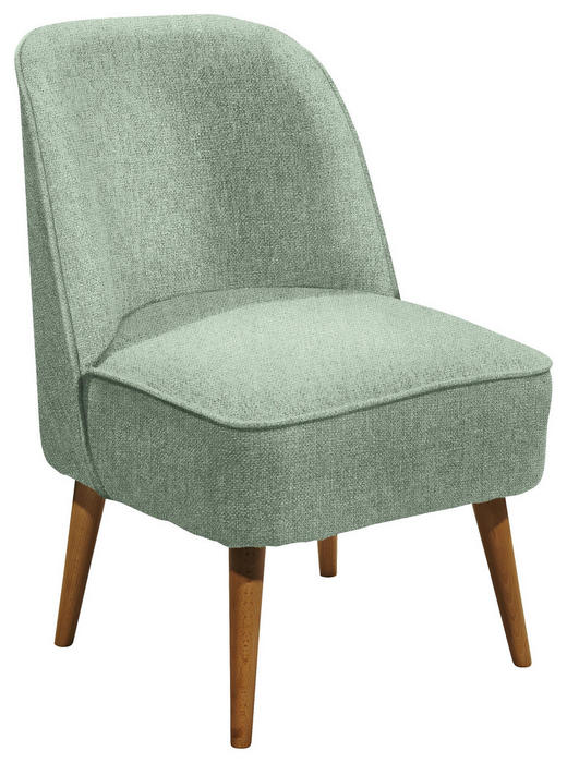 SESSEL in Textil, Holzwerkstoff Mintgrün - Kieferfarben/Mintgrün, Trend, Holz/Holzwerkstoff (54/83/66cm) - Carryhome