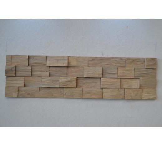 WANDPANEEL - Eichefarben/Grau, LIFESTYLE, Holz (78/18cm) - Ambiente