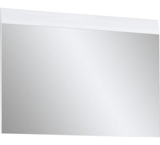 NÁSTĚNNÉ ZRCADLO, 89/63/4 cm,  - bílá, Design, kompozitní dřevo/sklo (89/63/4cm) - Xora