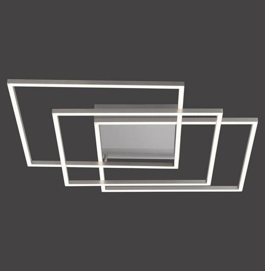 LED-DECKENLEUCHTE - Silberfarben, Design, Kunststoff/Metall (60/60/8cm)
