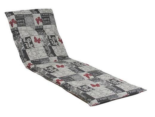LIEGENAUFLAGE Karo - Weiß/Grau, Design, Textil (48/4/200cm)