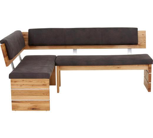 ECKBANK 205/155 cm  in Anthrazit, Eichefarben - Eichefarben/Anthrazit, Design, Holz/Textil (205/155cm) - Valdera