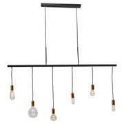 HÄNGELEUCHTE - Schwarz, Design, Metall (135/140/8cm) - Kare-Design