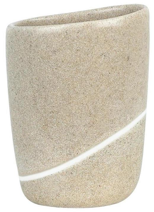 ZAHNPUTZBECHER - Sandfarben, Basics, Kunststoff (9.5/12.5cm) - SPIRELLA
