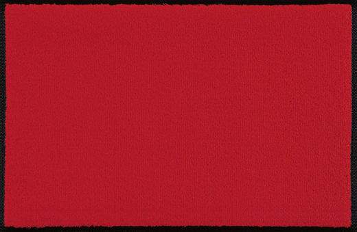FUßMATTE 60/90 cm Uni Rot - Rot, Basics, Kunststoff/Textil (60/90cm) - Esposa