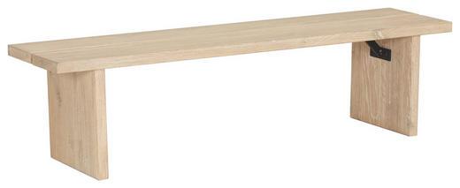 SITZBANK Wildeiche massiv Eichefarben - Eichefarben, Design, Holz (148/38/37cm) - Hasena