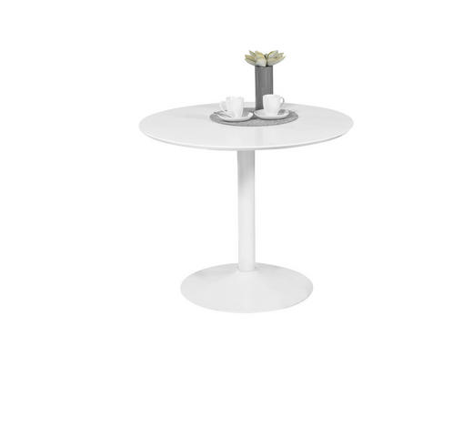 ESSTISCH rund Weiß - Weiß, Design, Holzwerkstoff (90/76cm)