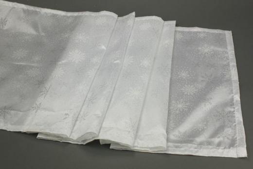 TISCHLÄUFER Textil Weiß 40/140 cm - Weiß, Basics, Textil (40/140cm)