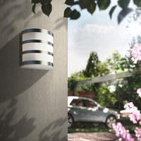 MYGARDEN LED-AUßENWANDLEUCHTE Edelstahlfarben  - Edelstahlfarben, Design, Kunststoff (12,2/13/8,8cm) - Philips