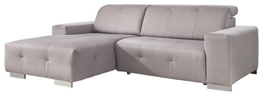 WOHNLANDSCHAFT Flachgewebe - Chromfarben/Grau, Design, Textil/Metall (178/257cm) - Carryhome