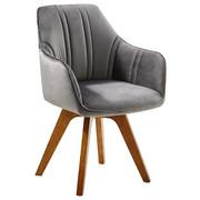 STOLICA - siva/boje hrasta, Moderno, drvo/tekstil (61/86/62,5cm) - Venda