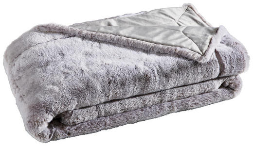FELLDECKE 150/200 cm Silberfarben - Silberfarben, KONVENTIONELL, Textil (150/200cm) - Ambiente