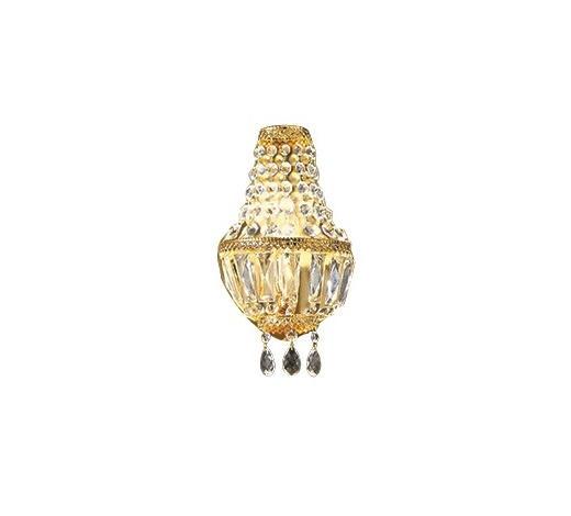 WANDLEUCHTE - Goldfarben, Design, Metall (17/28/10cm)