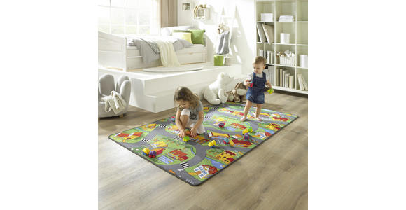 SPIELTEPPICH Car City  - Multicolor, Trend, Textil (100/175cm) - Boxxx