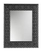 STENSKO OGLEDALO, 78/63/2.5 cm steklo - črna/srebrna, Design, steklo/les (78/63/2.5cm) - Xora