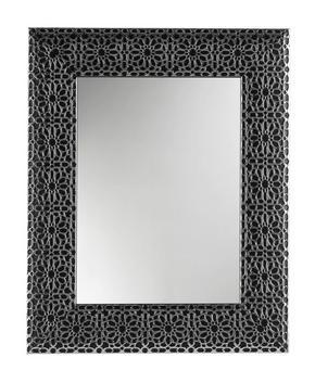 VÄGGSPEGEL - silver/svart, Design, glas/trä (78/63/2.5cm)