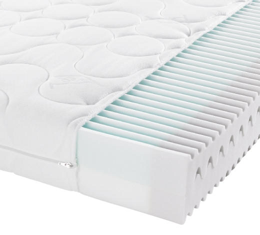 KOMFORTSCHAUMMATRATZE - Weiß, Basics, Textil (140/200cm) - Sleeptex