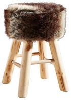 HOCKER Kiefer Braun, Naturfarben - Braun/Naturfarben, Basics, Holz/Textil (30/42cm) - Ambia Home