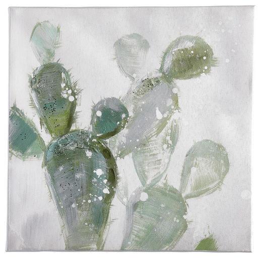 Pflanzen ÖLGEMÄLDE - Multicolor, Basics, Holz/Textil (30/30cm) - Monee