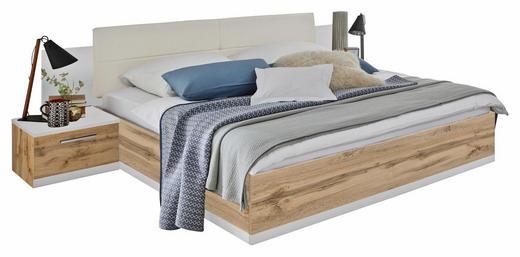 BETTANLAGE in Eichefarben, Weiß - Eichefarben/Weiß, Design, Holzwerkstoff/Textil (180/200cm) - Carryhome