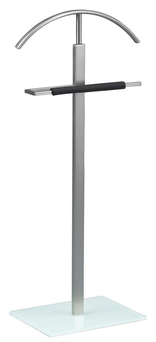 HERRENDIENER Edelstahlfarben, Weiß - Edelstahlfarben/Weiß, Design, Glas/Metall (52/112/30cm)