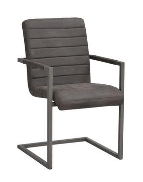 STOL - grå, Design, metall/textil (48/92/42cm) - Rowico