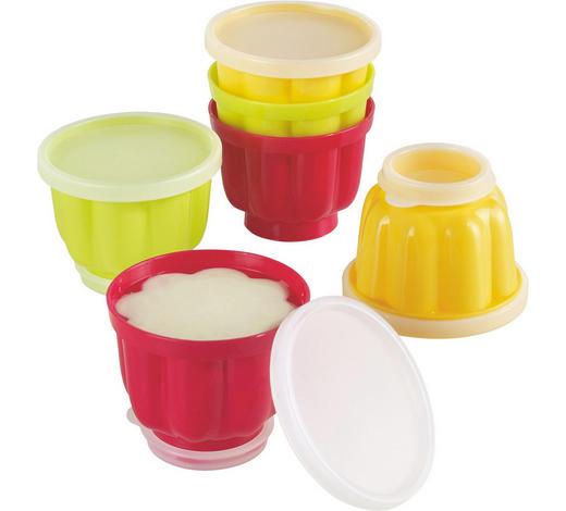 Puddingformenset 6-teilig - Gelb/Rot, Basics, Kunststoff (10cm) - Kaiser