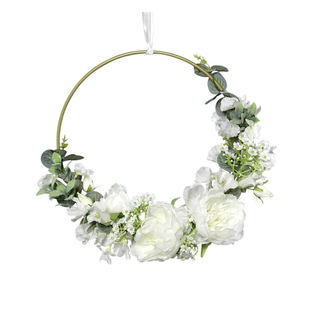 XXXLutz Blumenbouquet auf goldring pfingstrose