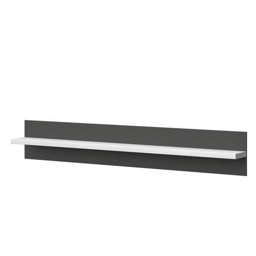 WANDPANEEL Melamin Graphitfarben, Weiß - Graphitfarben/Weiß, Design (200/32/20cm) - Xora