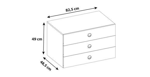 Schubkasteneinsatz Alicante - Grau, MODERN, Holzwerkstoff (82,5/49/48,5cm) - Luca Bessoni