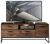 TV-ELEMENT 156/62/48 cm  - Eichefarben/Graphitfarben, MODERN, Holzwerkstoff/Metall (156/62/48cm) - Hom`in