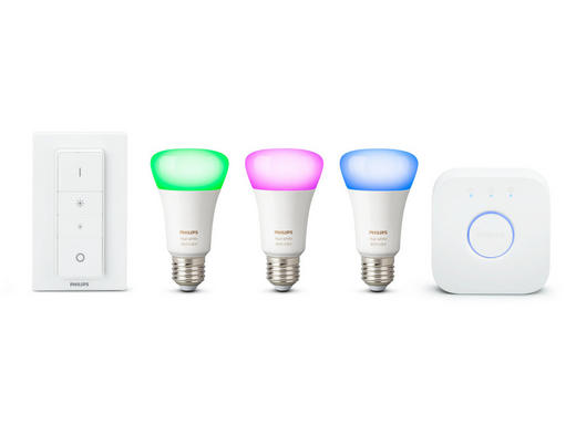 HUE WHITE & COLOR STARTER KIT  E27 60 W - Weiß, Design, Kunststoff (21/21/10,1cm) - Philips
