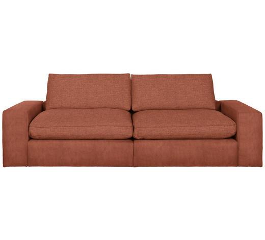 MEGASOFA in Textil Orange - Schwarz/Orange, Design, Kunststoff/Textil (266/84/123cm) - Hom`in