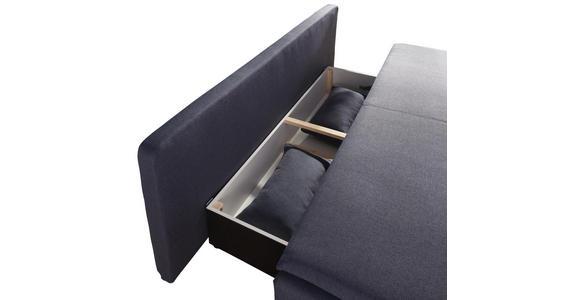 SCHLAFSOFA in Textil Blau, Grau  - Blau/Silberfarben, KONVENTIONELL, Kunststoff/Textil (207/94/90cm) - Venda