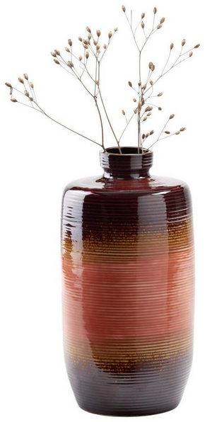 VAS - orange/brun, Klassisk, keramik (12,3/23,5cm) - Ambia Home