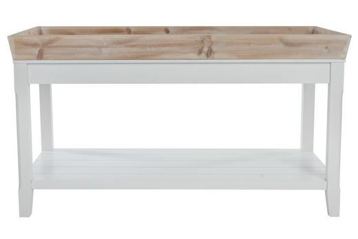 BEISTELLTISCH furniert rechteckig Braun, Weiß - Weiß/Braun, LIFESTYLE, Holz (100/55/50cm)