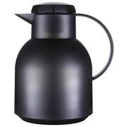 ISOLIERKANNE 1 L  - Transparent/Schwarz, Basics, Kunststoff (1l) - Emsa