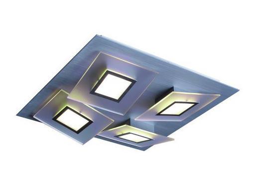 LED-DECKENLEUCHTE - Alufarben, LIFESTYLE, Metall (32/32/10cm)