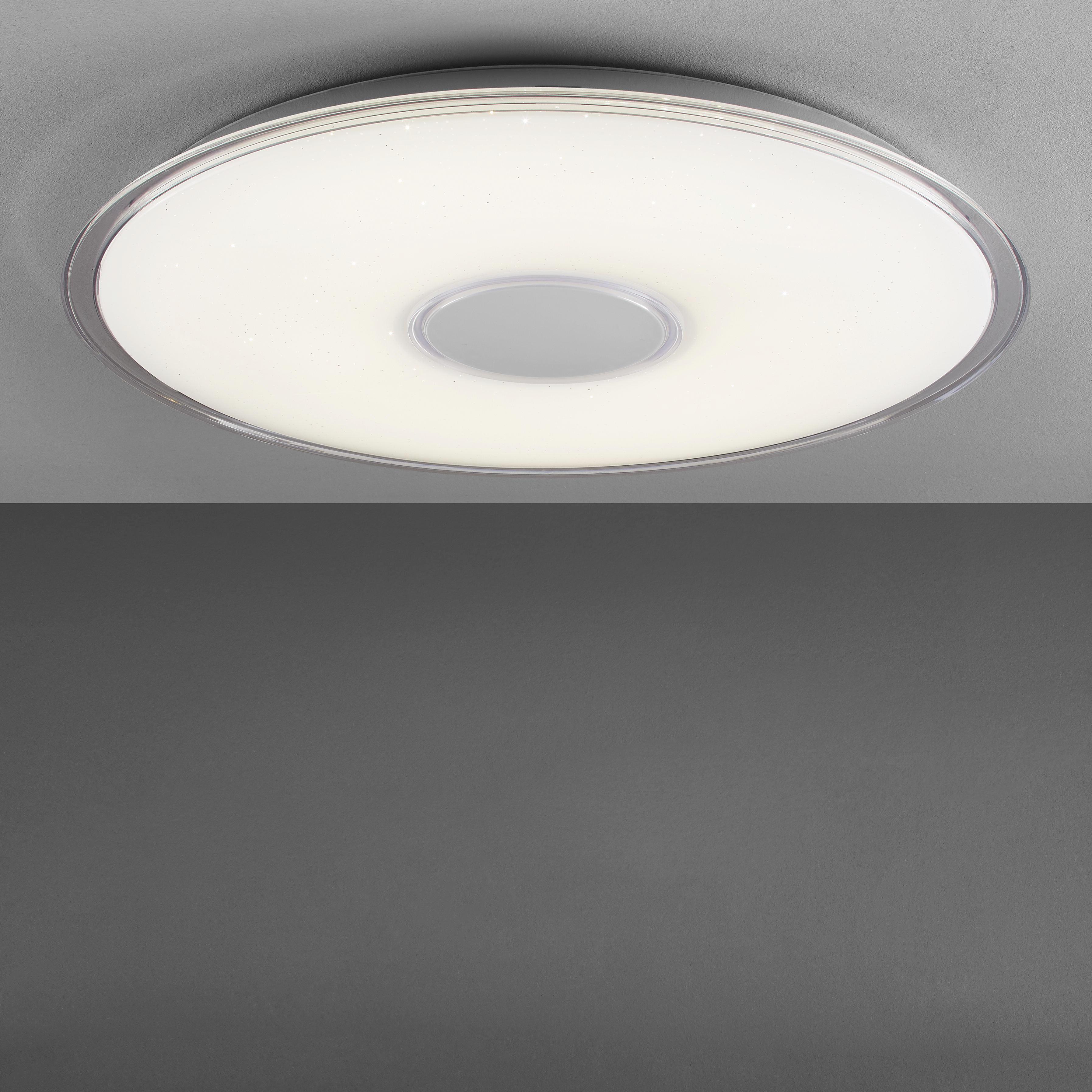 LED-DECKENLEUCHTE - Weiß, KONVENTIONELL, Kunststoff (60/6,5cm) - NOVEL