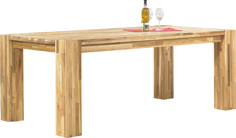 Gut ESSTISCH Wildeiche Massiv Rechteckig Eichefarben   Eichefarben, Design, Holz  (200/100/
